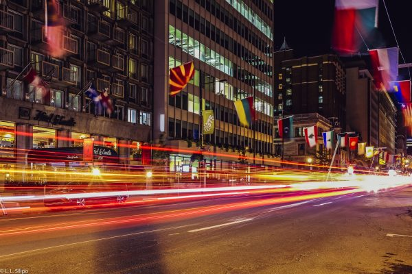 architecture, background, blue, building, canada, car, city, exposure, green, highway, hour, landscape, light, long, modern, montreal, night, quebec, red, speed, street, traffic, trail, white, yellow
