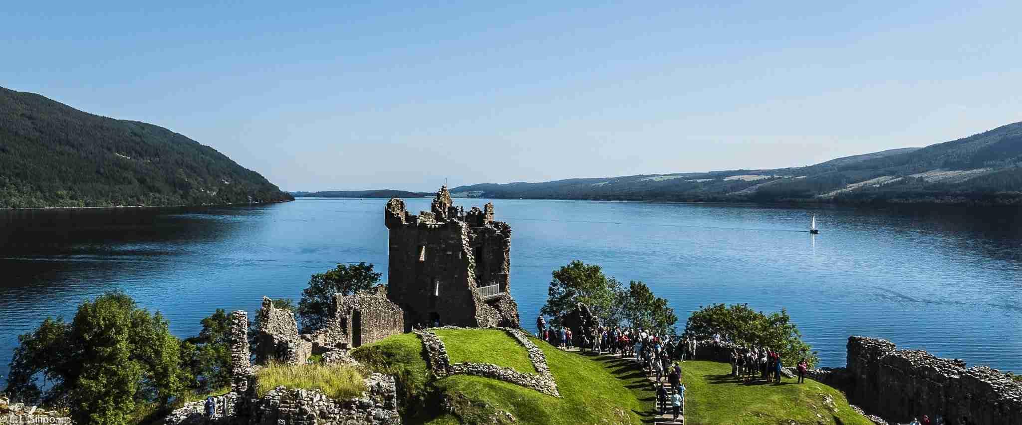 architecture, background, britain, building, castle, europe, famous, highlands, historic, history, holiday, lake, landmark, landscape, loch, ness, old, scotland, scottish, sky, summer, tourism, travel, uk, urquhart