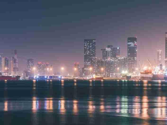 architecture, beautiful, blue, building, city, cityscape, colourful, downtown, dubai, dubai skyline, emirates, horizon, illuminated, landmark, landscape, light, modern, night, night sky, night skyline, nightlife, panorama, panoramic, scene, sky, skycraper, skyline, skyscraper, skyscrapers, tourism, tower, travel, uae, urban, view
